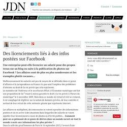 Des licenciements liés à des infos postées sur Facebook
