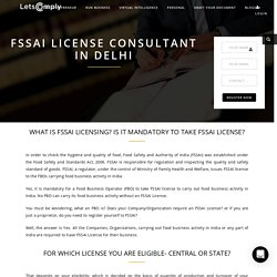 fssai license consultant in delhi