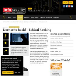 License to hack? - Ethical hacking