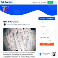 IRDAI Broker License procedure in India-Enterslice