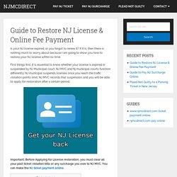 NJ License Restoration Guide - Online Fee & Surcharge