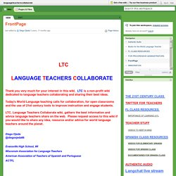 languageteacherscollaborate [licensed for non-commercial use only] / FrontPage