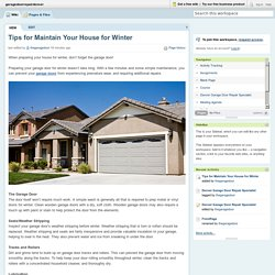 garagedoorrepairdenver [licensed for non-commercial use only] / Tips for Maintain Your House for Winter