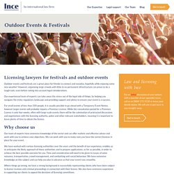 Top Licensing lawyers for festivals and outdoor events