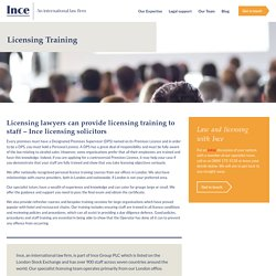 Licensing Training Courses for Large and Small Groups by Expert Tutors