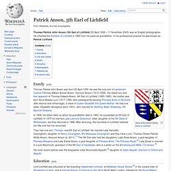 Patrick Anson, 5th Earl of Lichfield