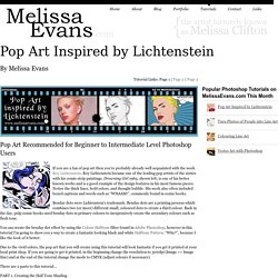 Pop Art Inspired by Lichtenstein -Photoshop Tutorial