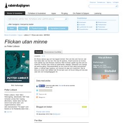 Lidbeck, P - Flickan utan minne - 88879622