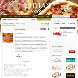 Lidia's Italy: Recipes: Orange and Red Onion Salad