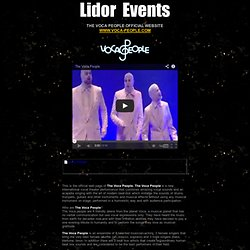 Lidor Events - Vocapeople | The Voca People
