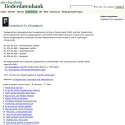 Liederdatenbank: Liederbuch: Ev. Gesangbuch