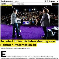So liefert ihr im nächsten Meeting eine Hammer-Präsentation ab