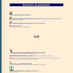 Liens vers des exercices grammaticaux à faire en ligne.