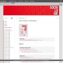 Liens sociaux numériques - N° 1, vol. 8