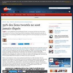 59% des liens tweetés ne sont jamais cliqués - ZDNet