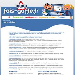 Liens utiles - FAIS-GAFFE