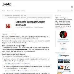 Lier son site à une page Google+
