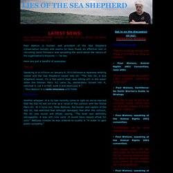 Lies of the Sea Shepherd and Paul Watson