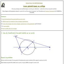 Lieu géométrique au collège