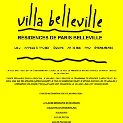 Lieu « Villa Belleville