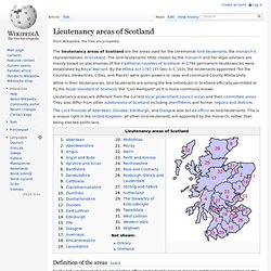 Lieutenancy areas of Scotland