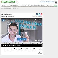 L'état des Lieux - Leçons vidéo FLE de française FLE