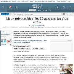 Lieux privatisables : les 30 adresses les plus «in»
