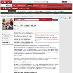 Q&A: Life After a Ph.D.