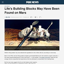 Life's Building Blocks May Have Been Found on Mars