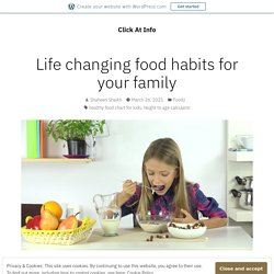 Life changing food habits for your family