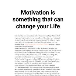 Life Changing Motivation