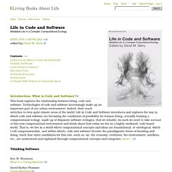 Life in Code and Software - Books