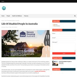 Life Of Disabled People In Australia