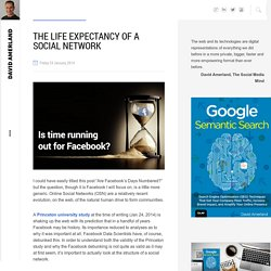 The Life Expectancy of a Social Network