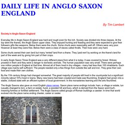 Life in Anglo Saxon England