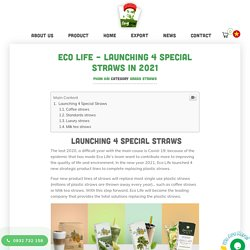 [HOT NEW] Eco Life - Launching 4 Special Straws In 2021