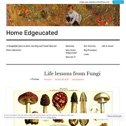 Life lessons from Fungi – Home Edgeucated