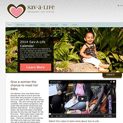 Sav-A-Life Pregnancy Resource Center > Home