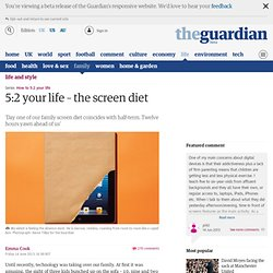 The 5:2 screen diet: could it break your children's technology addiction?