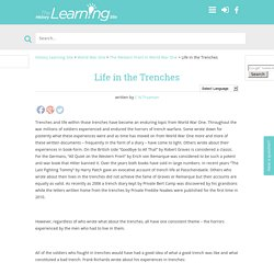 Life in the Trenches - History Learning Site
