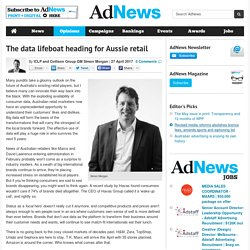 The data lifeboat heading for Aussie retail