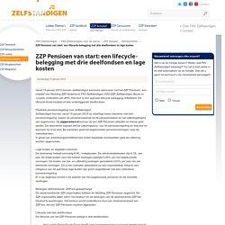 FNV ZZP - ZZP Pensioen van start: een lifecycle-belegging met drie deelfondsen en lage kosten voor gedreven zzp'ers