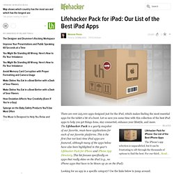 Pack for iPad: Our List of the Best iPad Apps
