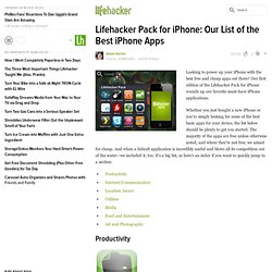 Pack for iPhone: Our List of the Best iPhone Apps