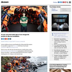 16-year-old artist builds igloos with refugee lifejackets for Moroso installation
