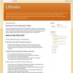 Multi Gene Panel Testing By Lifelabs
