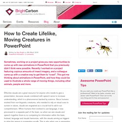 How to Create Lifelike, Moving Creatures in PowerPoint