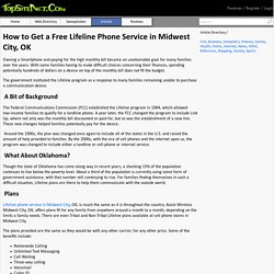 How to Get a Free Lifeline Phone Service in Midwest City, OK