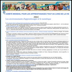 CMA - Lifelong Learning - Comité mondial pour les apprentissages tout au long de la vie - LifeLong Learning World Commitee