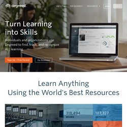Degreed - The Digital Lifelong Diploma
